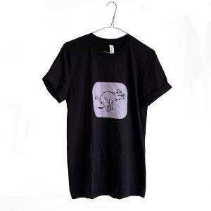unisex shirt poepende hond