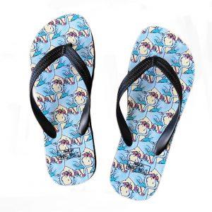 slippers tongende flamingos
