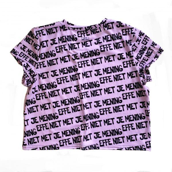 crop shirt effe niet met je mening