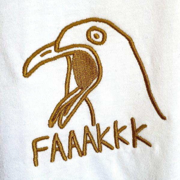 unisex shirt schreeuwende meeuw borduurwerk